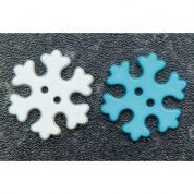Snowflake Buttons  Turquoise