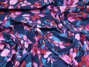 Floral Cotton Rayon Fabric  Multicoloured