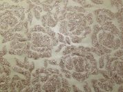 Bali Floral Sequinned Tulle Lace Dress Fabric  Gold