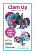 By Annie Sewing Pattern Clam Up Zippered Pouches