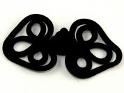 Celtic Chinese Button Frog Fasteners  Black