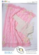 UKHKA Baby Cardigan & Blanket Knitting Pattern No 23  4 Ply