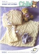 UKHKA Baby Sweater & Cardigan Knitting Pattern No 44  DK