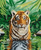 DMC Tiger Pool Counted Cross Stitch Kit