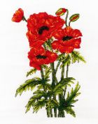 DMC Poppies Counted Cross Stitch Kit
