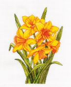DMC Daffodils Counted Cross Stitch Kit
