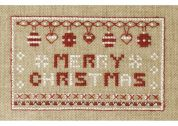 DMC Merry Christmas Card Counted Cross Stitch Kit