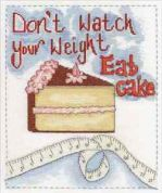 DMC Eat Cake Counted Cross Stitch Kit