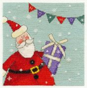 DMC Santa with Bunting Counted Cross Stitch Kit