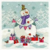 DMC Snowman with Presents Counted Cross Stitch Kit