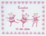 DMC First Name Sampler Pink Counted Cross Stitch Kit
