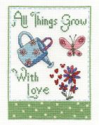 DMC All Things Grow with Love Counted Cross Stitch Kit