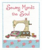 DMC Sewing Mends the Soul Counted Cross Stitch Kit