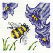 DMC Bee and Bluebells Counted Cross Stitch Kit