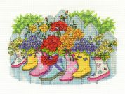 DMC Blossoming Wellies Counted Cross Stitch Kit