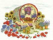 DMC Flower Caravan Counted Cross Stitch Kit