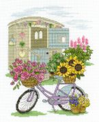 DMC Flowery Bicycle Counted Cross Stitch Kit
