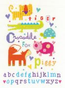 DMC Animal Alphabet Counted Cross Stitch Kit