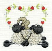 DMC Love You Too Counted Cross Stitch Kit