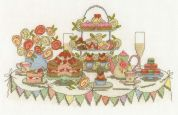 DMC Afternoon Tea Party Counted Cross Stitch Kit