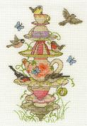 DMC Tea Garden Counted Cross Stitch Kit