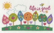 DMC Life is Good Counted Cross Stitch Kit