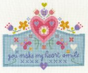 DMC You Make my Heart Smile Counted Cross Stitch Kit