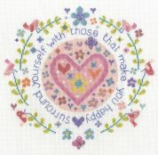 DMC Those That Make You Happy Counted Cross Stitch Kit