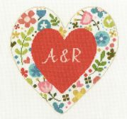 DMC Personalised Heart Counted Cross Stitch Kit