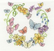 DMC Butterflies in Bloom Counted Cross Stitch Kit
