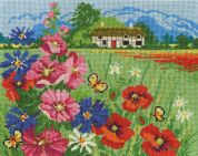 DMC Summer Meadow Counted Cross Stitch Kit