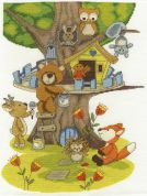 DMC Building the Treehouse Counted Cross Stitch Kit