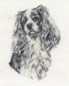 DMC King Charles Cavalier Counted Cross Stitch Kit