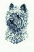 DMC West Highland Terrier Counted Cross Stitch Kit