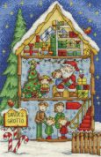 DMC Santa's Grotto Counted Cross Stitch Kit