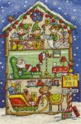 DMC Elf Workshop Counted Cross Stitch Kit