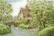 DMC River Scene with Thatched Cottage Counted Cross Stitch Kit