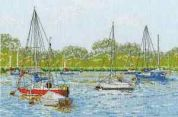 DMC Yachts at Oulton Broad Counted Cross Stitch Kit