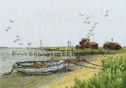 DMC Boats at Walberswick Counted Cross Stitch Kit