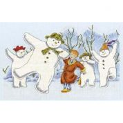 DMC The Snowman Party Counted Cross Stitch Kit