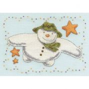 DMC The Snowman Flying with Stars Counted Cross Stitch Kit