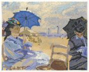 DMC Claude Monet The Beach at Trouville Counted Cross Stitch Kit