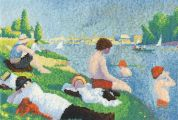 DMC Seurat Bathers at Asnieres Counted Cross Stitch Kit