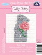 DMC Me to You Tatty Ted Pink Rose Counted Cross Stitch Kit