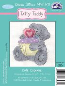 DMC Me to You Tatty Ted Cute Cupcake Counted Cross Stitch Kit