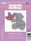 DMC Me to You Tatty Ted Beautiful Butterfly Counted Cross Stitch Kit