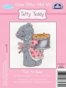 DMC Me to You Tatty Ted Time to Bake Counted Cross Stitch Kit