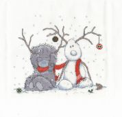 DMC My Snowman Counted Cross Stitch Kit