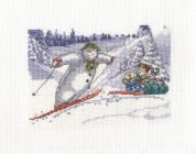 DMC Fun in the Snow Counted Cross Stitch Kit