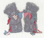 DMC Bunting Bears Counted Cross Stitch Kit